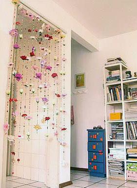 cortina miçangas