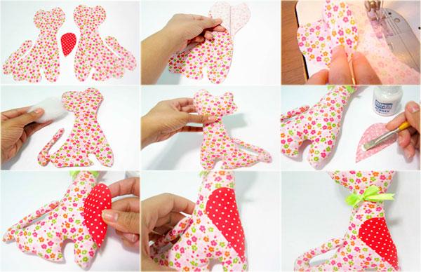 passos gatinho de tecido