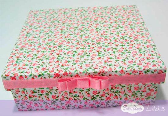 caixas com tecido estampado