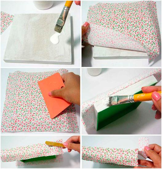 passo2 caixa tecido estampado