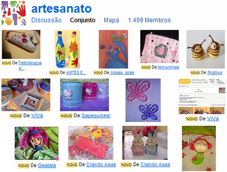 Grupos de artesanato no Flickr