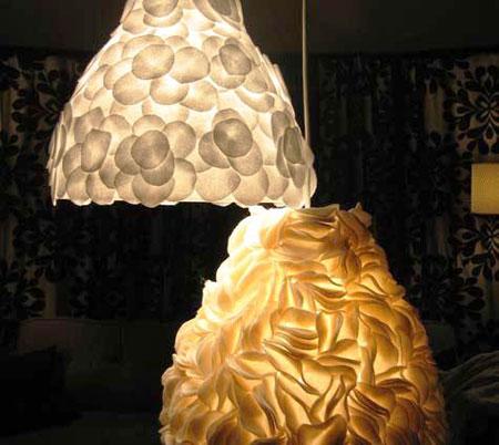 luminaria decorada com feltro