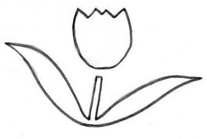 molde da flor