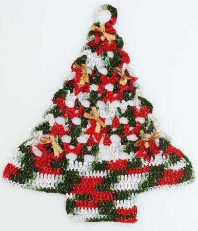 mini-árvore natal de croche
