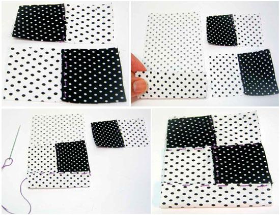passo2 porta celular tecido patchwork