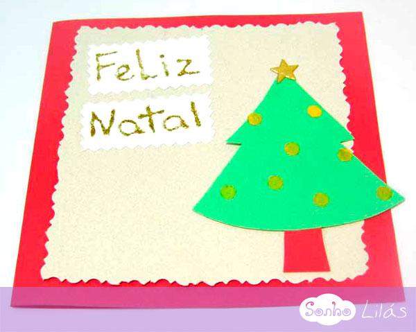 Cartão De Natal Artesanal Sonho Lilás
