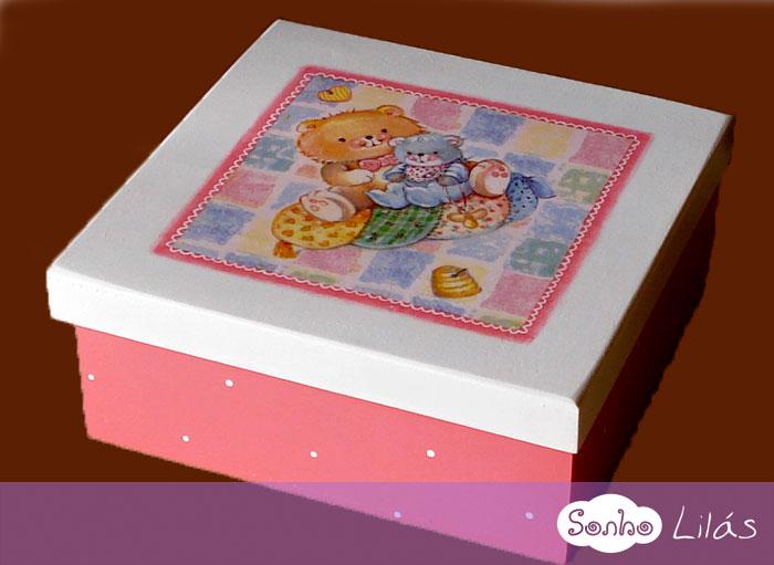 Caixa infantil com pintura e decoupage sonho lil s - Papel decoupage infantil ...