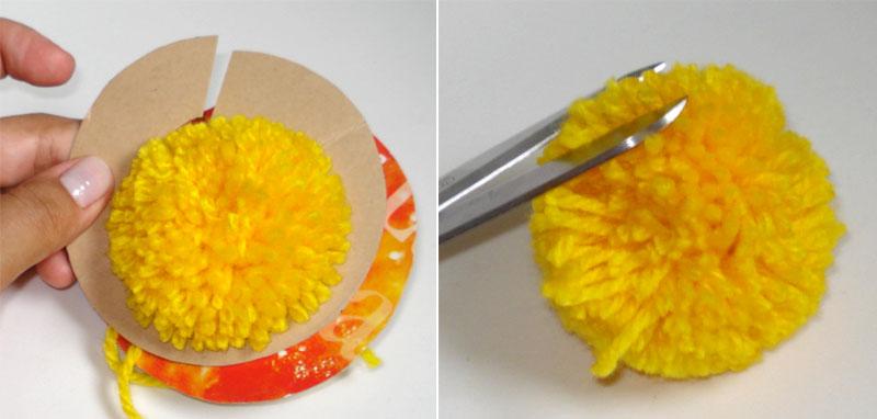 229e34a0b2bcd Com essa técnica dá para fazer não só pompom de lã mas também de retalhos  de tecido