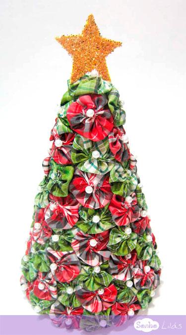 Árvore de Natal com fuxicos