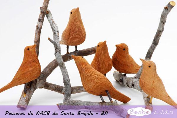 Adesivo Para Geladeira Retro ~ Artesanato Brasileiro Pássaros de madeira de Santa Brígida BA Sonho Lilás
